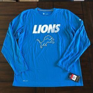 NWT Nike Dri-Fit LEGEND Longsleeve Detroit Lions L